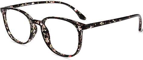Firmoo Blue Light Blocking Glasses Women, Square Pattern Eyewear Frame Glasses for Computer Screen, Headache Fatigue...