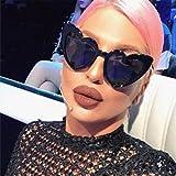 Gaddrt Frauen Retro Fashion Herz Shades Sonnenbrille integrierter UV-Brille, e