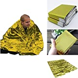 zhengpin Emergency Thermal Blanket Foldable Portable Reflective Sunshade Reusable Poncho Canopy Mat Pad Car Cover Outdoor Emergency Survival Mad