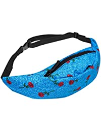 E : VENMO Women Bum Bag Fanny Pack For Running Sports Festival Colorful Ladies Waist Belt Bag Money Change Pouch...
