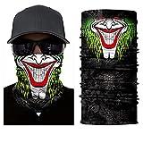 ILOVEDIY Tour de Cou Moto Tete de Mort Clown Crane Cagoule Masque Multifonction Homme Halloween Deguisement (#10)