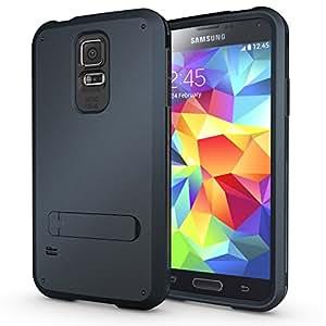 Caseink - Coque Housse Samsung Galaxy S5 Antichoc Intégrale - Armor Defender 3 - Dark Blue