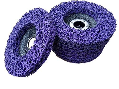 Preisvergleich Produktbild 5 x Rostio CSD Scheibe 125 mm Lila   purple für Winkelschleifer   Flex