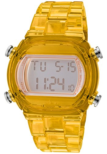 Adidas Yellow Candy Digital ADH6505 43 Plastic Case Yellow Plastic Women's Quartz Watch