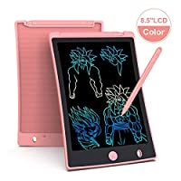 Arolun LCD Writing Tablet, 8.5 Inch Colorful Screen Digital eWriter Electronic Graphics Tablet Portable Writing Board Handwriting Doodle Drawing Pad for Kids Adult Home School Office (Pink)