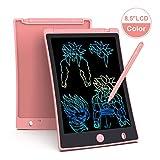Arolun Tavoletta Grafica LCD Scrittura 8.5 Pollici, Display Colorato, Blocco Note Elettronico per Bambini e Adulti (Rosa)