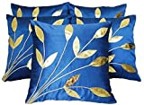 #9: Desi Hault Floral Cushions CoverBlueColor (Pack of 5 Piece, 30 cm x 30 cm (12 inch x 12 inch) )