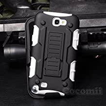 Galaxy Note 2 Funda, Cocomii Robot Armor NEW [Heavy Duty] Premium Belt Clip Holster Kickstand Shockproof Hard Bumper Shell [Military Defender] Full Body Dual Layer Rugged Cover Case Carcasa Samsung N7100 (White)