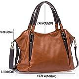 UTAKE Women Handbags Leather Handbags Shoulder Bag Lichi Grain PU Leather Tote Bag UT04 Brown