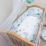 5 Pcs Baby Nursery Bedding Set, 140x70cm 420cm long Bumper, Suits Cot Bed - Pattern 13 - Baby Comfort - amazon.co.uk