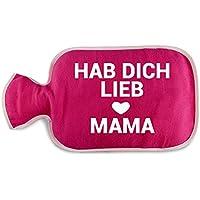 """Preisvergleich für Wärmflaschenbezug """"Hab dich lieb Mama"""", optional mit Wärmflasche, Wärmflaschenüberzug, Geschenkidee, Geburtstagsgeschenk..."""
