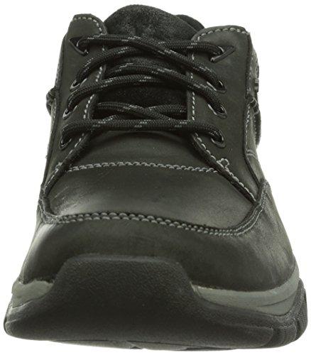 Clarks Rampart Go GTX, Scarpe stringate Brogue Uomo Nero (Schwarz (Black Leather))