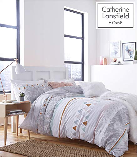 Catherine Lansfield Marmor Reichhaltige Bettbezug-Set, Polyester-, Multi, Single