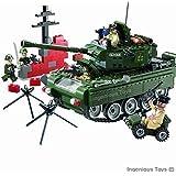 Tanque Militar con Misiles y 5 Figuras - Juguete de Construcción Nuevo de Alta Calidad - 466 piezas - Referencia 823