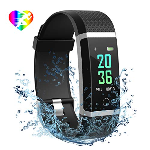 Mpow Bluetooth 4,0 Fitness Armbänder mit Pulsmesser,Smart Fitness Tracker mit Herzfrequenzmesser, Schrittzähler, Schlaf-Monitor, Aktivitätstracker, Remote Shoot, Anrufen / SMS, finden Telefon für Android iOS Smartphone wie iPhone 7/7 Plus/6S/6/6 Plus, Huawei P9.
