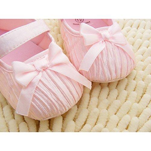Free Fisher Baby Lauflernschuhe Prinzessinschuhe mit Schleife Pink