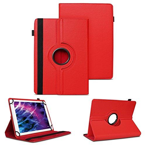 NAUC Hülle für Medion Lifetab S7852 Tasche Schutzhülle Case Tablet Cover Etui Rot