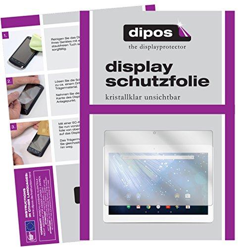 dipos I 2X Schutzfolie klar passend für Trekstor Surftab Breeze 10.1 Quad 3G Folie Bildschirmschutzfolie