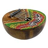 Kalimba mit 7 Zungen, Daumenklavier, Dot-Paint-Bemalung