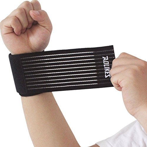 Handgelenk Bandagen,ACME Handgelenkbandage Handgelenkstütze Fitness für Damen und Herren,40cm,Schwarz
