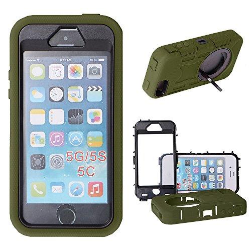 Xtra-Funky Esclusivo iPhone 5 / 5S / 5C pesante dazio doppio strato di silicio e (Telefono Guardia Schermo Custodia In Silicone)