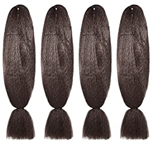 American Dream Brilliant Jumbo Kanekelon Braid for Hair Weaves, Dreads and Avant Garde Creative Styling, Mousey Brown, Pack of 4 by American Dream