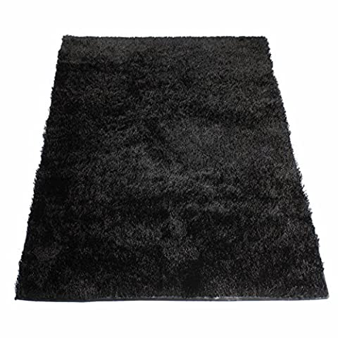 Tapis Shaggy Noir 60 x 120 cm