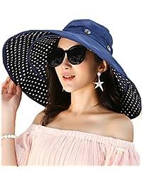 Ruiying Damen Verstaubarer Sonnenhut f/ür den Strand Wendbar UPF 50+ Extra Gro/ßer Floppy-Sonnenhut Formbarer
