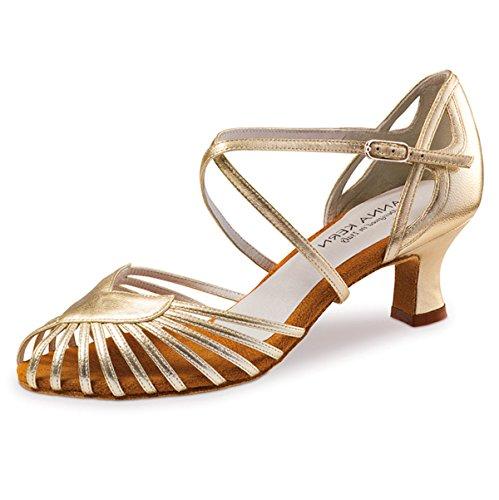 Anna Kern - Femmes Chaussures de Danse 536-50 - Cuir Or - 5 cm Or