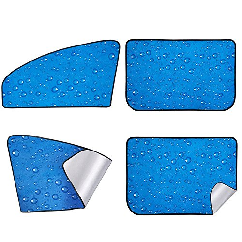 4pcs Coche Sun Shade Imán Adsorción Cortinas laterales
