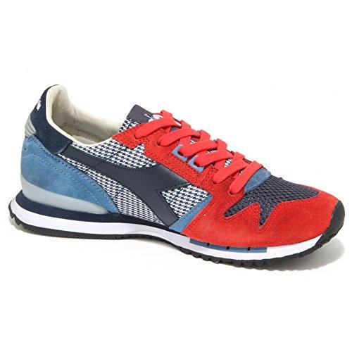 Diadora , Herren Sneaker rot rot Rot / Blau