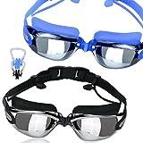 80d27c85d6 Gafas de natación, gafas de natación kamota – Pack de 2 – Gafas de natación