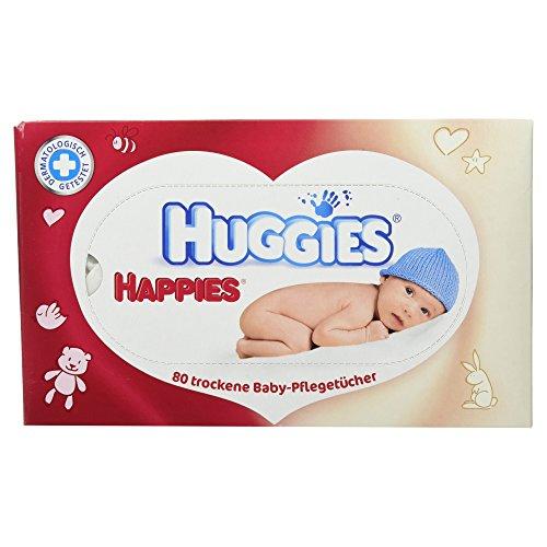 Huggies Happies trockene Baby Pflegetücher, 80...