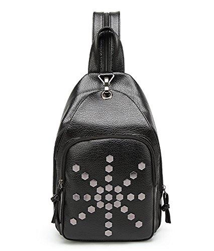 9f5c976eb48eb Estwell PU-Leder Schultertasche Brusttasch Bodybag Klein Reise Rucksack  Handtasche für Damen und Herren StilB