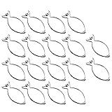 COM-FOUR® 18x Rouladenklammern im Sparpack aus Edelstahl