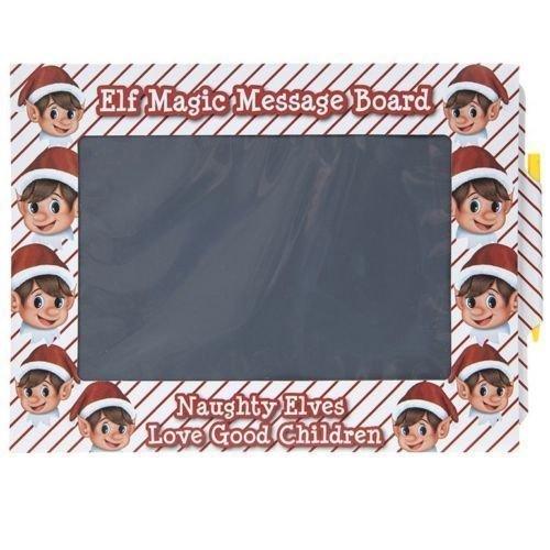 Elf Magic Message Board Elf auf dem Regal Magic Slate Nachricht Board Naughty Elfen Weihnachts Kinder Dekoration Braten Board