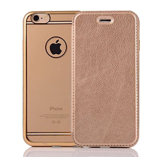 "HYAIT® For IPHONE 6 PLUS 5.5"" Case[Credit Card Slots][Half Cover] Dual Layer Hybrid Armor Rugged Plastic Hard Shell Flexible TPU Bumper Protective Cover-BLACK GOLD"