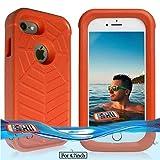 Temdan iPhone 8/7/6S/6Floating Fall mit Wasserdichte Tasche Stoßfest Schwimmweste mitnehmen Fall für iPhone 8/7//6S/6(11,9cm)–Orange
