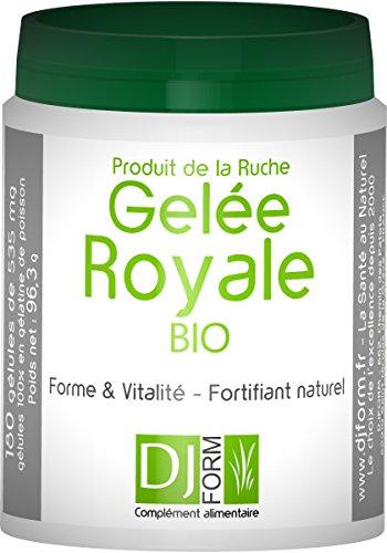 Frankreich-gel (Gelee Royale Bio lyophilisiert - 180 Kapseln- Hergestellt in Frankreich)