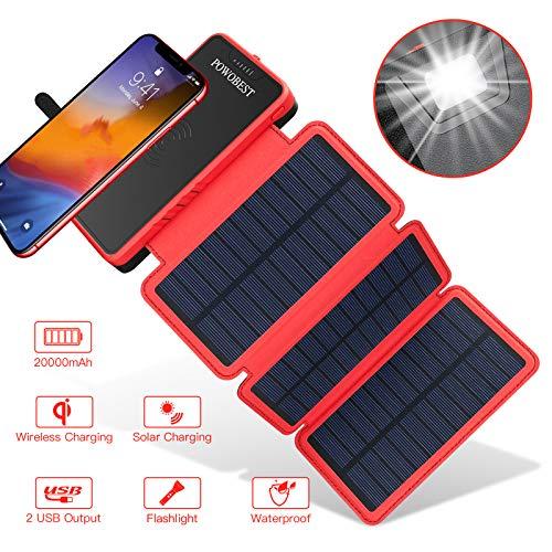 Descripción:   1. 20000mAh ultra alta capacidad2.3 veces los paneles solares que absorben la luz para garantizar una carga completa a alta velocidad.3. Los puertos USB duales ofrecen una carga de alta velocidad de 2.1 A y le permiten cargar 2 disp...