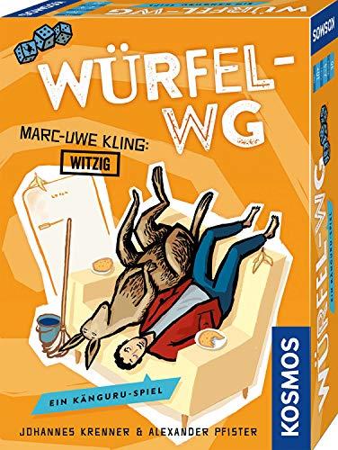 KOSMOS 693176 - Würfel-WG. Ein Känguru-Spiel, Von Marc-Uwe Kling, dem Autor der Känguru-Chroniken, als Witzig abgestempelt. Freches Würfelspiel v. Johannes Krenner u. Alexander Pfister für 2-4 Spieler