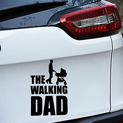 YuanMinglu Stilvolle Walking Vater Aufkleber Design Muster Kunst Vinyl Aufkleber Auto Styling Auto Aufkleber Windschutzscheibe Aufkleber schwarz S 12 x 18 cm -