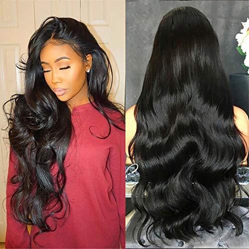 TWISFER Frauen Lange lockige Ziemlich Schwarze Haar Perücke Hitzebeständige Synthetische Perücke Natürliche Party Perücke Frau