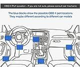 CoCar OBD2 DVR Dashcam Ladekabel Mini USB Adapter mit Schalter, 16 Pin OBDII Auto/Fahrzeug direkt zur Batterie/ Festverkabeltes Kabel Autoladegerät für PDA Handy GPS Tablette - 3M/11.5FT Draht - DC12-24V zu 5V thumbnail
