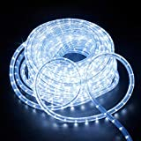 6Mete LED Lichterschlauch Lichtschlauch Lichterkette Licht Leiste 36LEDs/M und Außenbereich Lauflichter für Saal,Garten, Weihnachten, Hochzeit,Partyund Innen Kaltweiß
