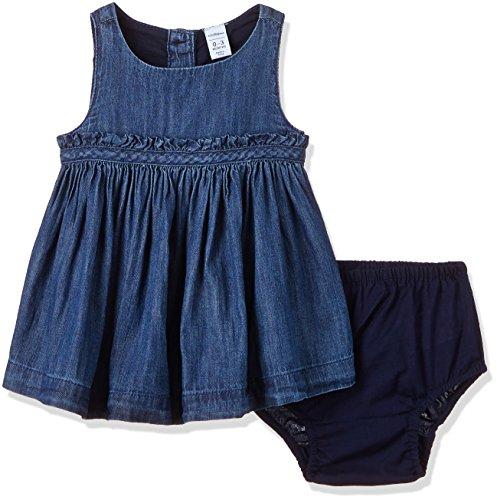 GAP Baby Girl 1969 Denim Jumper (32725348200_Medium Chambray_6-12M)