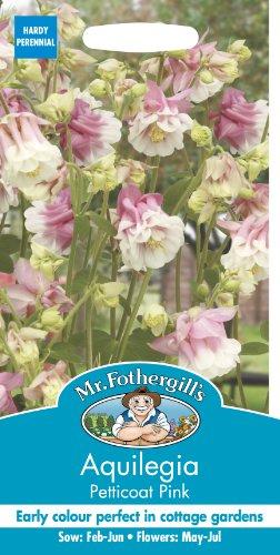 Mr. Fothergill's 12124 Petticoat Pink Samen Akelei, 50 Samen