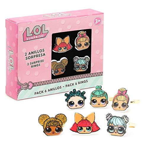 Prinzessin Kostüm Pop Sterne - L.O.L. Surprise ! Packung Mit 6 Ringen Für Mädchen Mit Ihren Lieblings Lol Puppen | Verschiedene Verstellbare Ringe Für Kinder | LOL Puppenzubehör Für KinderTaschen | Überraschungsauswahl