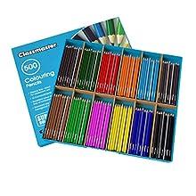 Boîte de 500 crayons de couleur, couleurs assorties