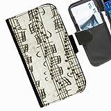 Hairyworm- Musik Seiten Leder-Schützhülle für das Handy LG G3 (D855, D850, D851)